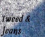 Stoffmuster: Tweed und Jeans