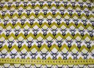 Stoffmuster - Hirsch, 100% Baumwolle