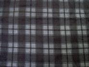 Stoffmuster - Karo-Cord-schwarz, 100% Baumwolle