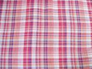Stoffmuster - Karo-pink-rosa, 100% Baumwolle