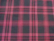 Stoffmuster - Karo-schwarz-pink, 100% Polyester