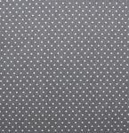 Stoffmuster - Punkte grau/weiß 2 mm 100% Baumwolle