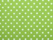 Stoffmuster - Punkte grün/weiß-10mm, 100% Baumwolle