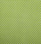 Stoffmuster - Punkte kiwi/weiß; 2mm, 100% Baumwolle
