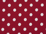 Stoffmuster - Punkte rot/weiß; 10mm, 100% Baumwolle