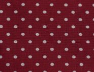 Stoffmuster - Punkte rot/weiss; 2mm, 100% Baumwolle
