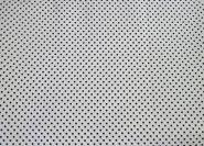 Stoffmuster - Punkte weiß/schwarz; 2mm, 100% Baumwolle