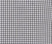 Stoffmuster - Vichykaro grau; 2mm,100% Baumwolle