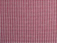 Stoffmuster - Vichykaro rot; 2mm, 100% Baumwolle