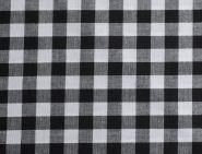 Stoffmuster - Vichykaro schwarz; 5mm, 100% Baumwolle