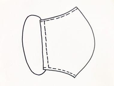 individueller Überzieher für FFP2 Masken
