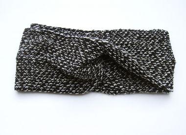 """Turban Stirnband / Haarband aus Strick """"schwarz & weiß"""""""