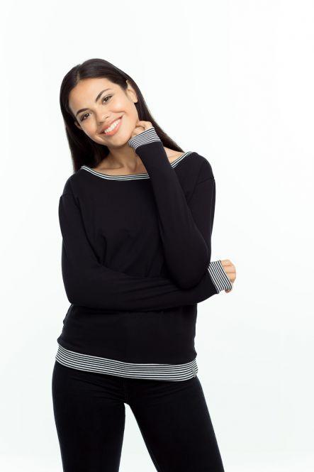"""Sweatshirt/ Pulli """"Ringelbündchen"""""""