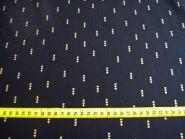 Stoffmuster - Dreiecke - gold auf schwarz, 100% Baumwolle